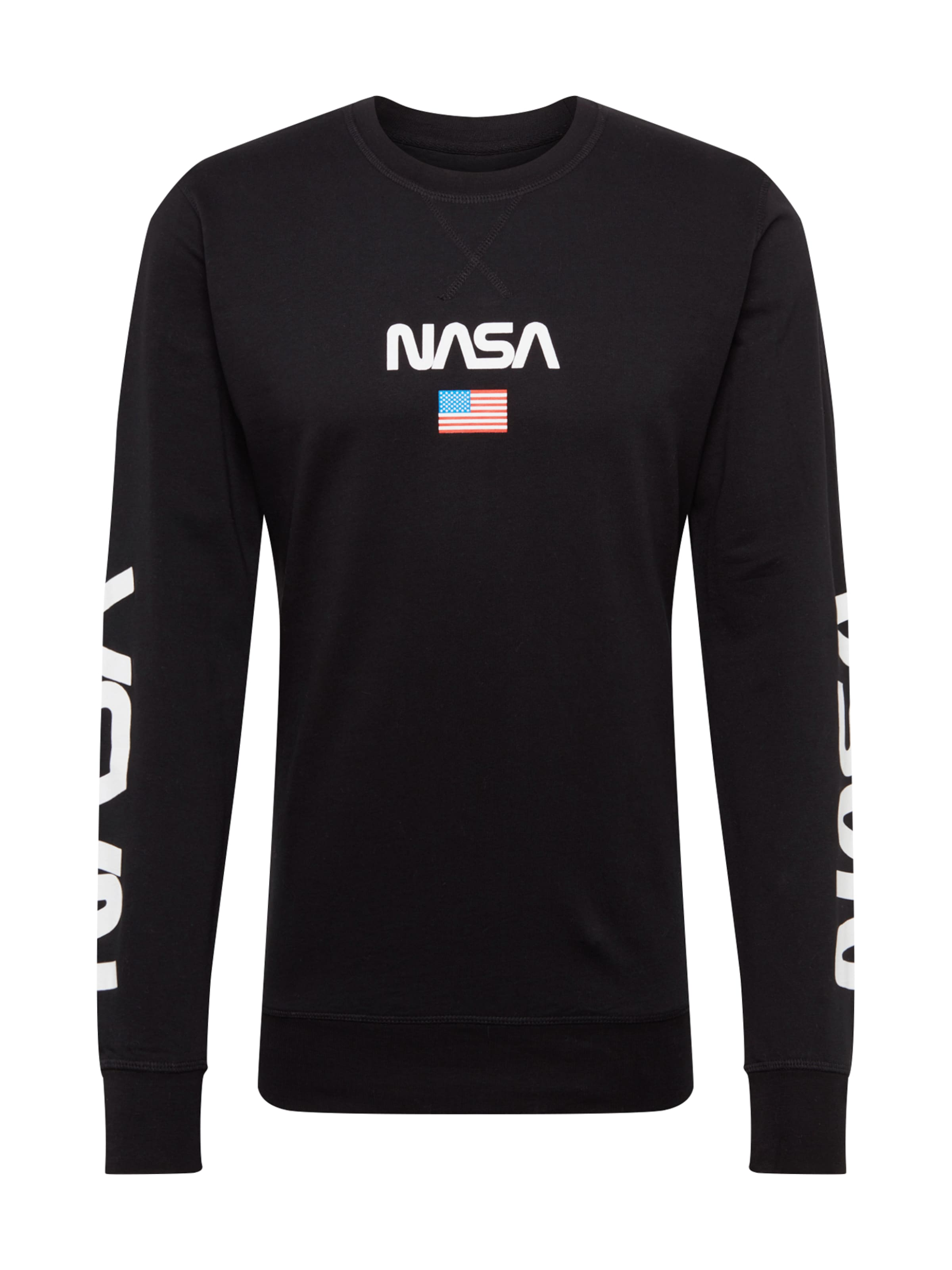 shirt Sweat Tee NoirBlanc 'nasa' En Mister iXOPukZ