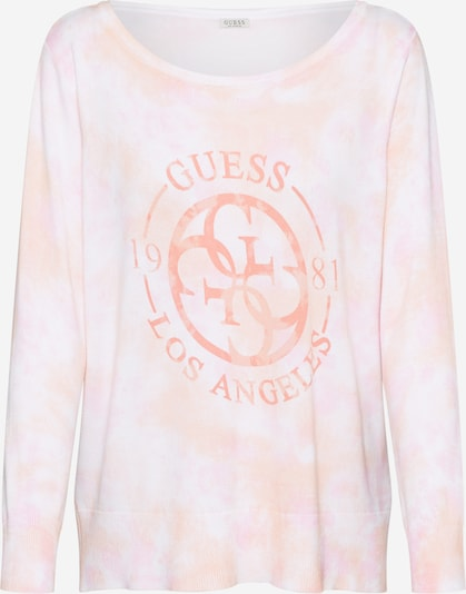 GUESS Pullover 'SARA' in orange / pink / weiß, Produktansicht