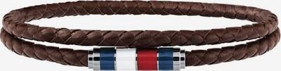 TOMMY HILFIGER Armband in de kleur Navy / Bruin / Rood / Zilver / Wit, Productweergave