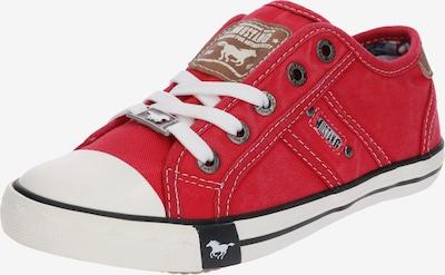 MUSTANG Sneaker in braun / rot / schwarz / weiß, Produktansicht