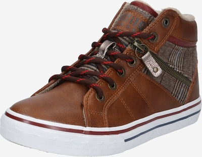 Sneaker înalt MUSTANG pe coniac: Privire frontală