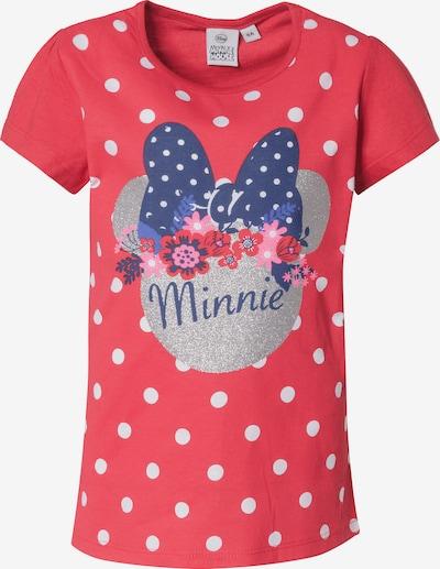 DISNEY T-Shirt 'Minnie Mouse' in navy / rot / silber, Produktansicht