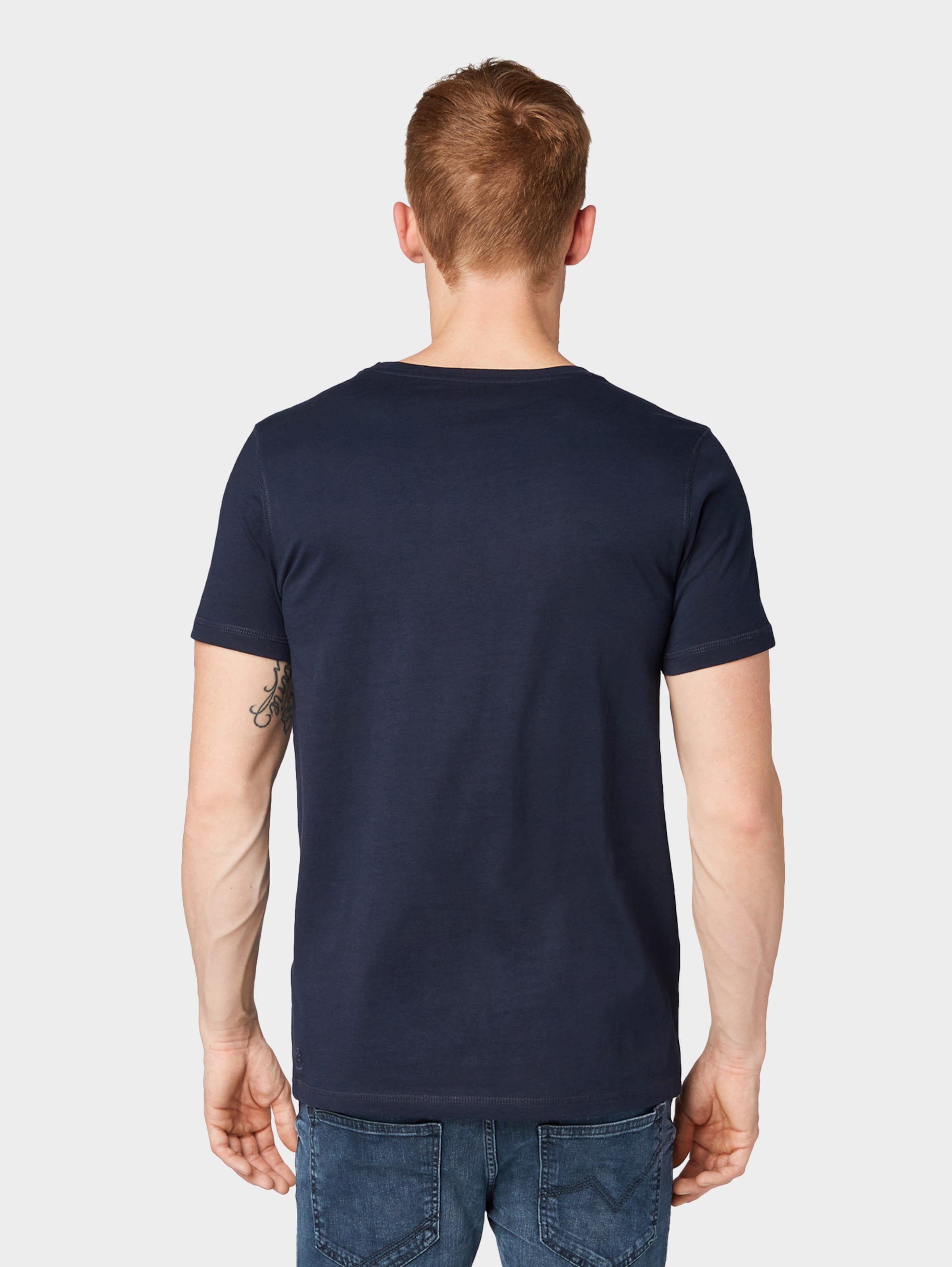 shirt NachtblauWeiß In Denim T Tom Tailor Yfvgyb76