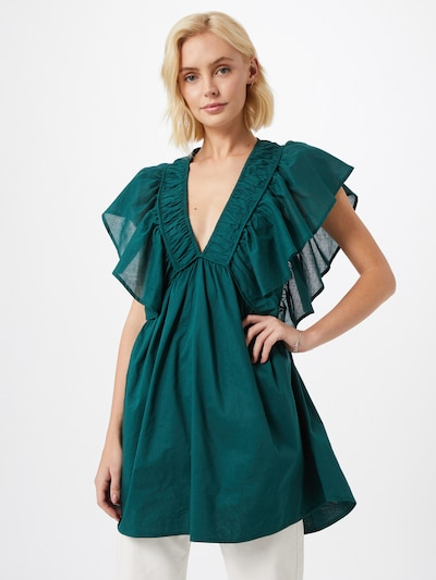 Mes Demoiselles Tunika 'Calixte' pieejami smaragda, Modeļa skats