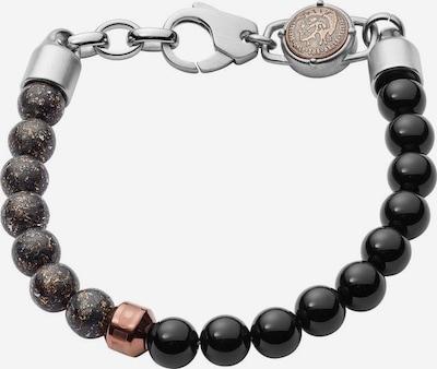 DIESEL Armband 'BEAD' in dunkelbraun / schwarz / silber, Produktansicht
