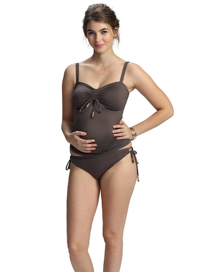 petit amour Tankini 'CAMERON' in Brown, View model
