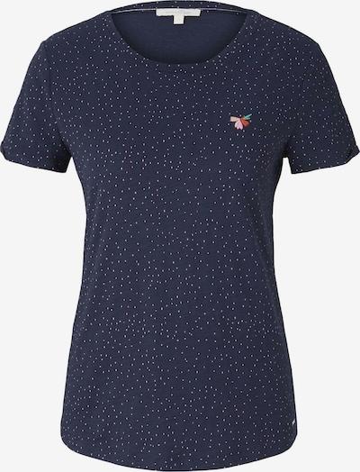 TOM TAILOR DENIM T-Shirt in nachtblau / weiß, Produktansicht