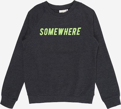 NAME IT Sweatshirt 'Vion' in dunkelblau / hellgrün, Produktansicht