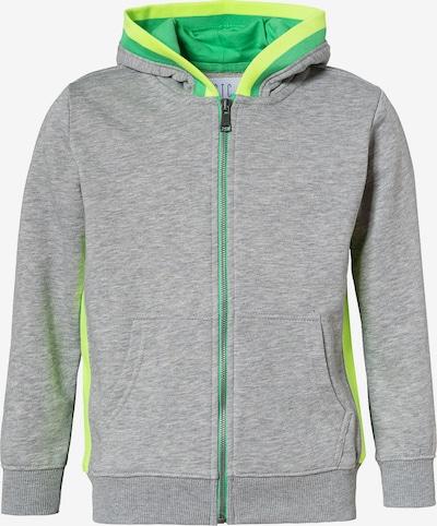 STACCATO Sweatjacke in neongelb / grau / limette, Produktansicht