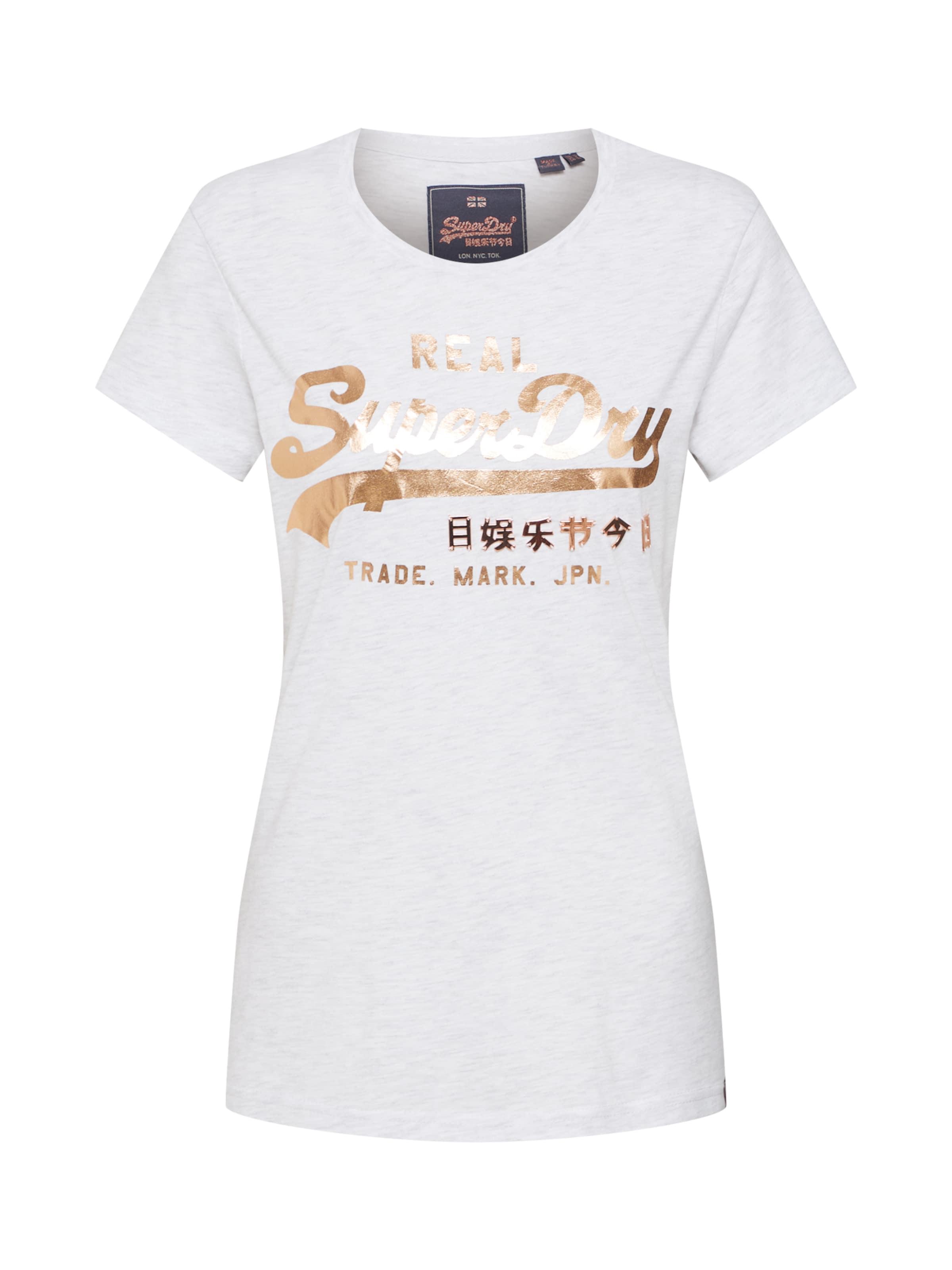 shirt GoldHellgrau In Metalwork' T Superdry Logo 'vintage eCBdoErxWQ