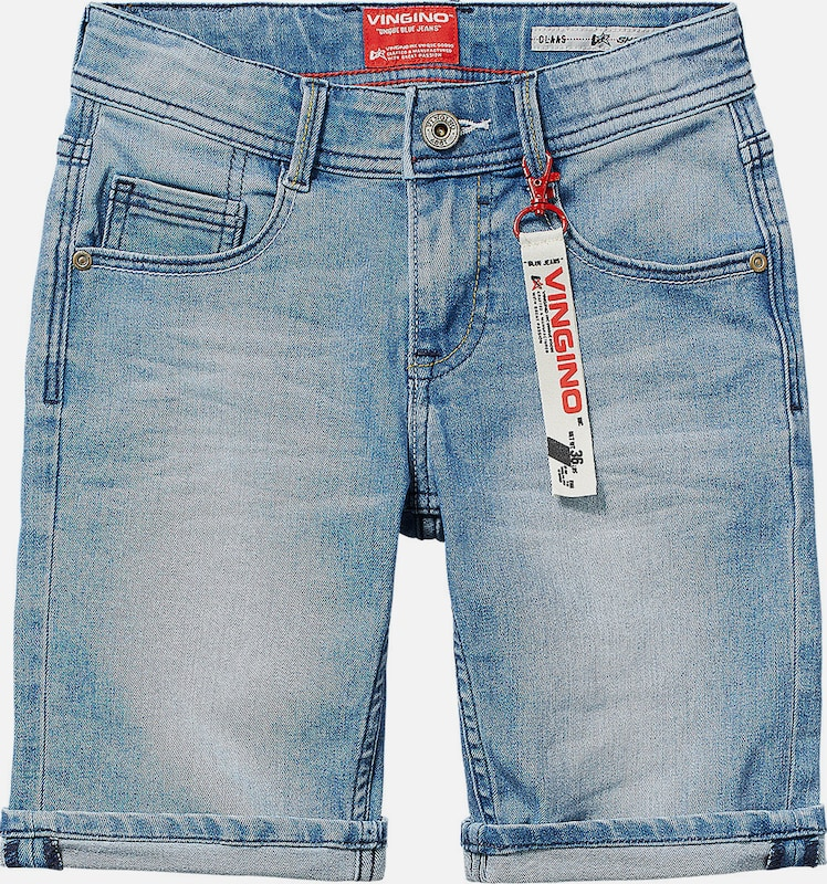 VINGINO Jeansshorts 'Claas' in blue denim: Frontalansicht