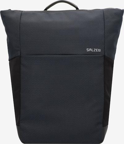SALZEN Rucksack 'Plain' in kobaltblau / weiß, Produktansicht