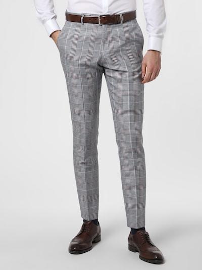 Finshley & Harding Hose in grau / schwarz / weiß, Modelansicht