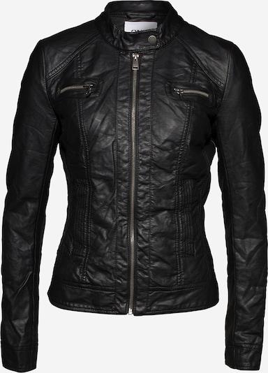 ONLY Jacke in Leder-Optik 'Bandit' in schwarz / silber, Produktansicht