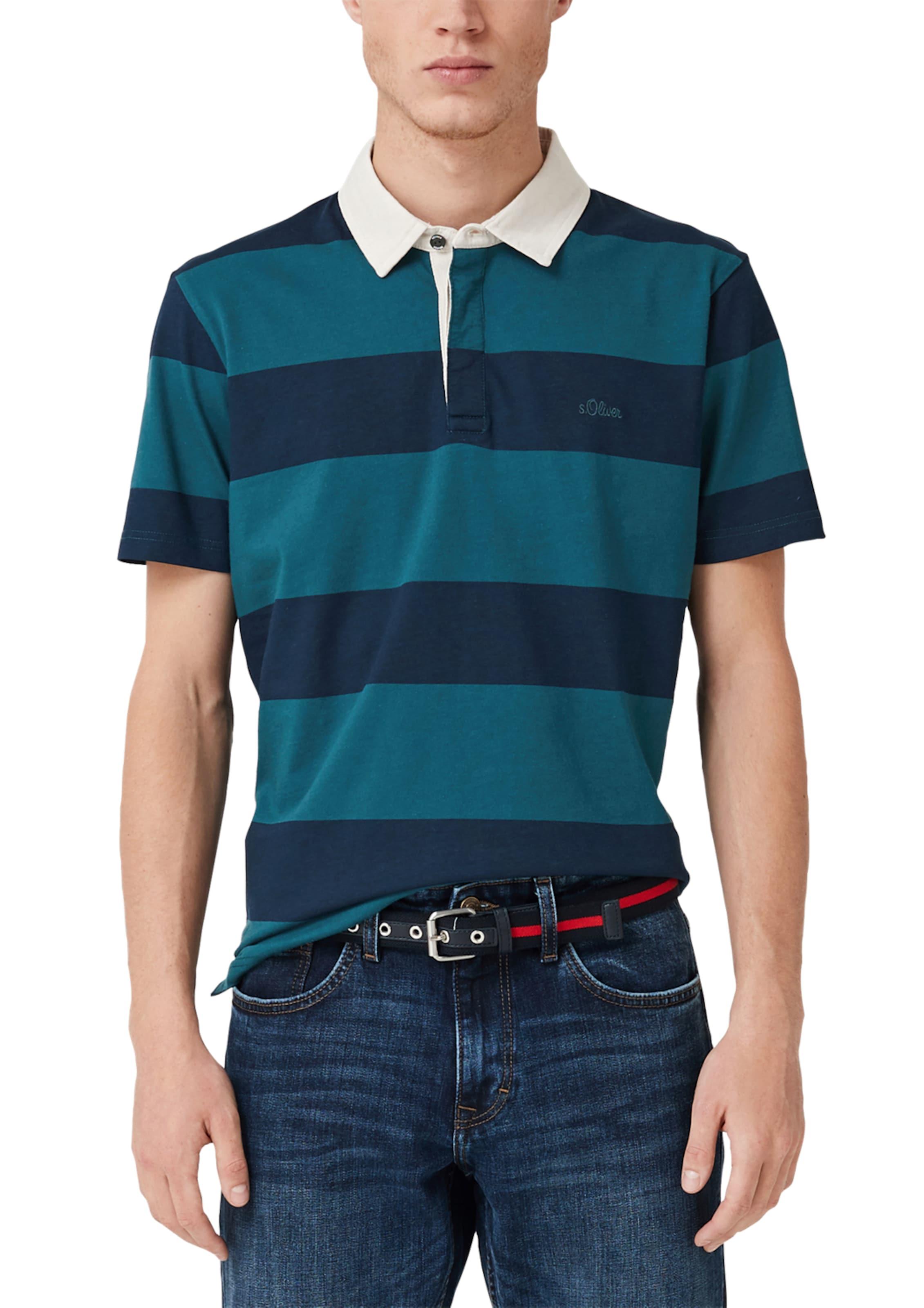 Red In Weiß Mit Blockstreifen Poloshirt BlauPetrol oliver Label S rdsxhBtQC