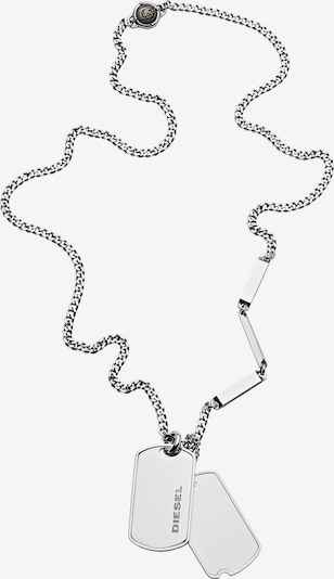 DIESEL Kette 'Double Dogtags, DX1173040' in silber, Produktansicht
