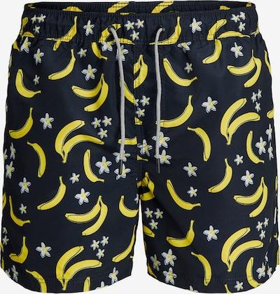 JACK & JONES Badeshorts in nachtblau / gelb, Produktansicht