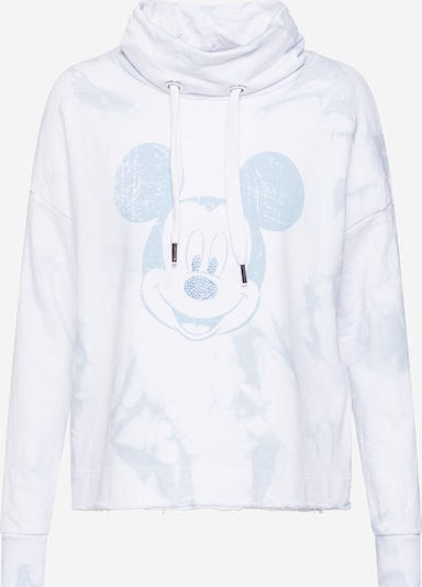 Frogbox Sweatshirt 'Dip dye sweaty with mickey' in hellblau / weiß, Produktansicht