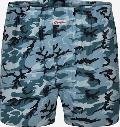Sugar Pine Boxershorts ' Snow Camouflage ' in hellblau, Produktansicht