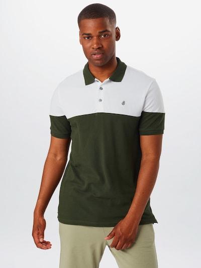 BURTON MENSWEAR LONDON Tričko - zelená / biela: Pohľad spredu