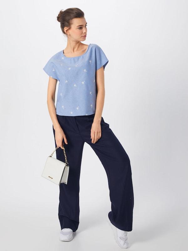 En Tee' T Iriedaily shirt 'palmi Clair Bleu OulkXwiPZT