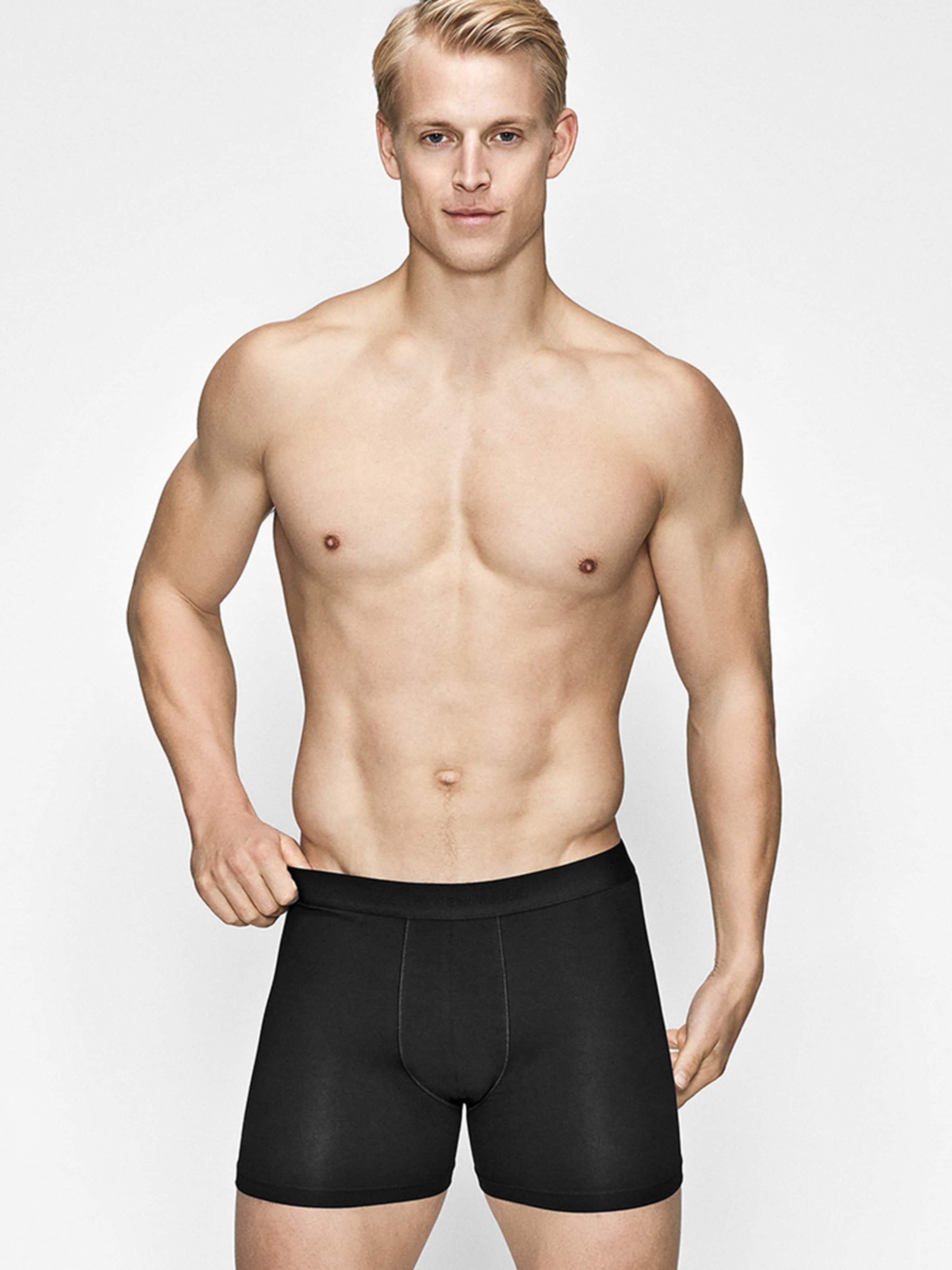 JBS OF DENMARK Boxershorts in schwarz Jersey 8835