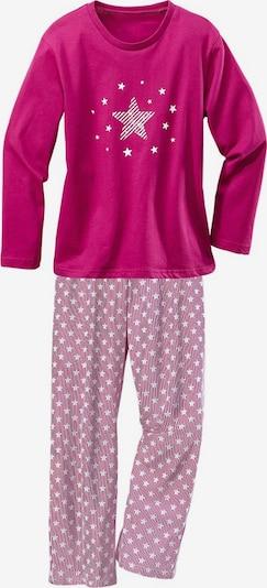PETITE FLEUR Pyjamas in pink / weiß, Produktansicht