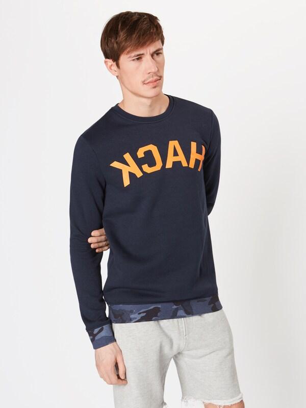 shirt En 'hack Bleu Yourturn Sweater' FoncéOrange Sweat RLc435Aqj
