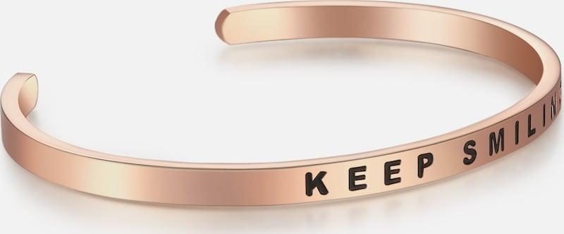 Nahla Jewels Armband Bangle mit Aufschrift KEEP SMILING