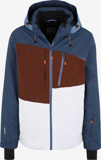 ICEPEAK Sportjacke 'ICEPEAK CARVER' in blau / braun / weiß, Produktansicht