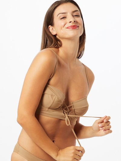 OW Intimates Bikini top 'Kauai' in Light brown, View model