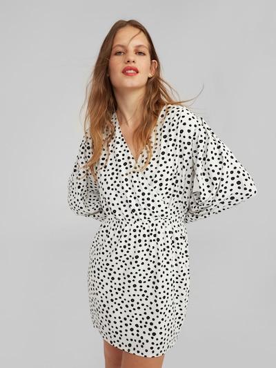 EDITED Kleid 'Rhianna' in schwarz / weiß: Frontalansicht