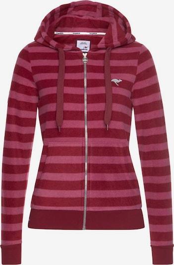 KangaROOS Fleece Jacket in Bordeaux / Light red, Item view