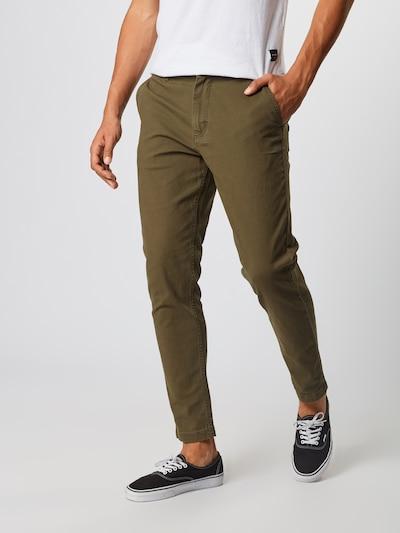JACK & JONES Pantalon chino en olive, Vue avec modèle