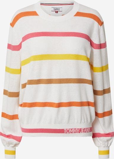 Tommy Jeans Pullover in ecru / braun / gelb / orange / pink, Produktansicht