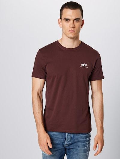 ALPHA INDUSTRIES Shirt in de kleur Wijnrood: Vooraanzicht