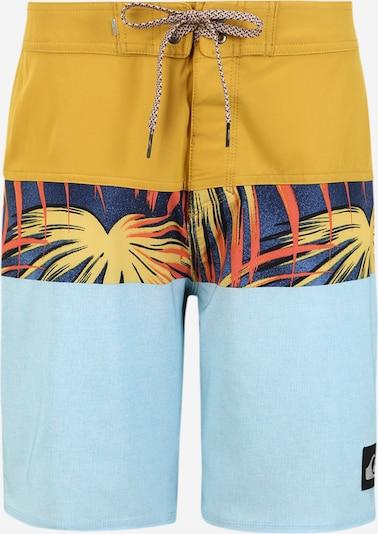 QUIKSILVER Plavecké šortky 'Highline Paradiso' - světlemodrá / zlatě žlutá / černá, Produkt