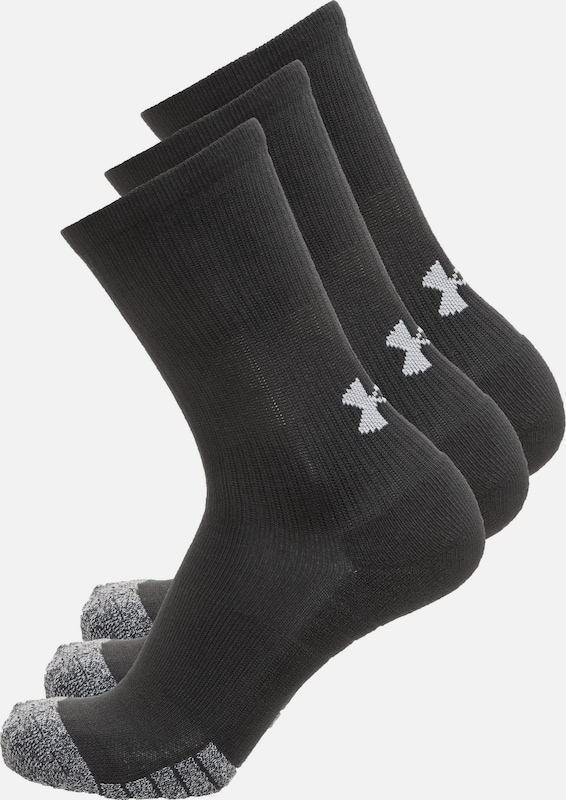 UNDER ARMOUR Socken 'HeatGear Crew' in graumeliert / schwarz, Produktansicht