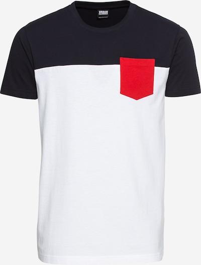 Urban Classics T-Shirt in navy / feuerrot / weiß, Produktansicht
