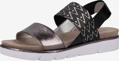 bugatti Sandalen met riem in de kleur Basaltgrijs / Zilver, Productweergave