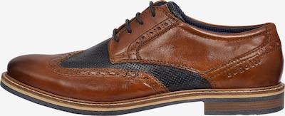 bugatti Čevlji na vezalke | rjava / črna barva, Prikaz izdelka