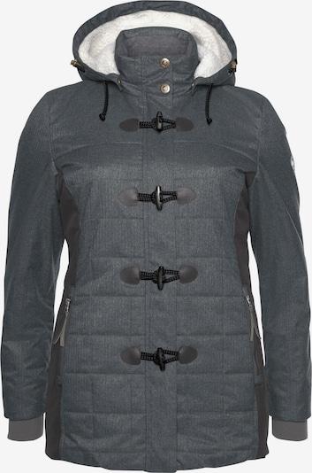 POLARINO Funktionsjacke in grau / schwarz, Produktansicht