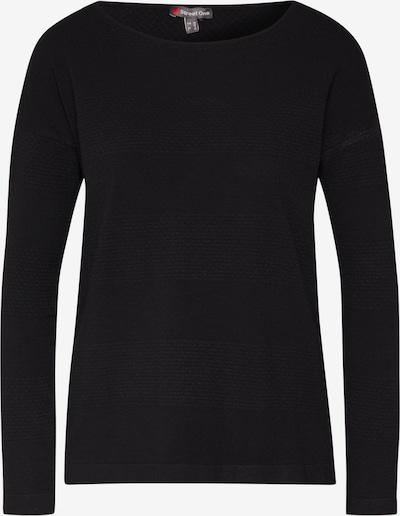 STREET ONE Pullover 'MH_Noreen structure' in schwarz, Produktansicht