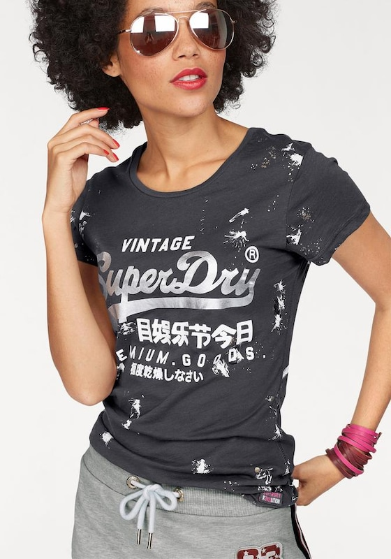 Superdry T-Shirt 'PREMIUM GOODS DOODLE ENTRY TEE'