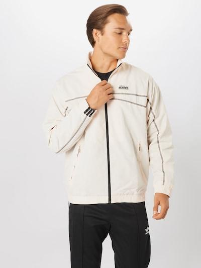 ADIDAS ORIGINALS Jacke in braun / schwarz / perlweiß, Modelansicht