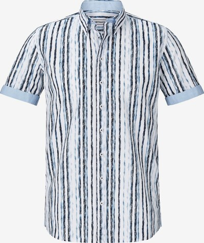 Shirtmaster Kurzarmhemd 'Bluestripes' in blau / weiß, Produktansicht