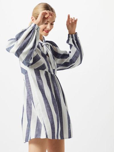OBJECT Košilové šaty 'LOU' - modrá džínovina / bílá, Model/ka