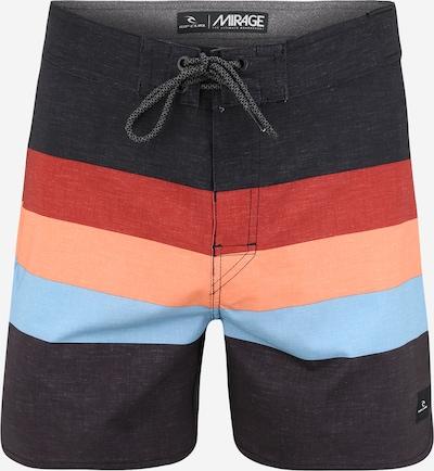 RIP CURL Boardshorts 'RETRO SORBET' en bleu cobalt / bleu clair / rouge clair / noir, Vue avec produit
