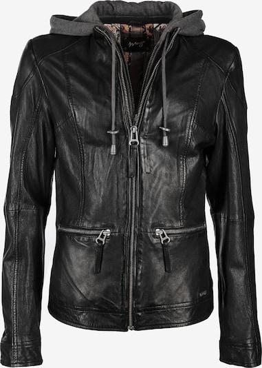 Maze Lederjacke mit stylische Kapuze ' Brayford ' in schwarz, Produktansicht