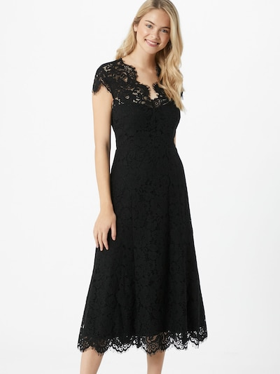 IVY & OAK Koktejl obleka | črna barva, Prikaz modela